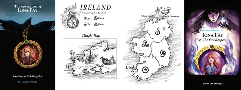 adventures of iona fay banner fairy map of ireland