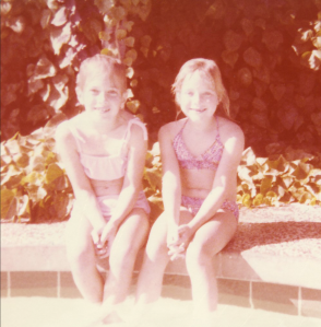childhood gayvin powers by the pool